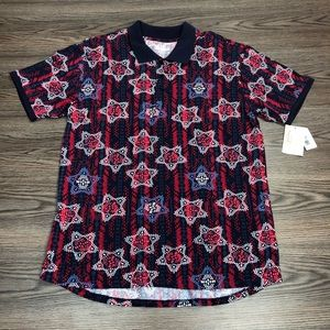 LulaRoe NWT Red, White & Blue Star Polo Shirt L